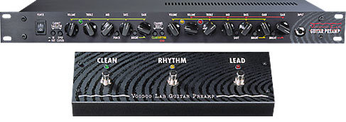 The Voodoo Lab Guitar Preamp Is Being Updated To Include Midi Channel Switching Front And Rear Input Jacks A New Footswitch